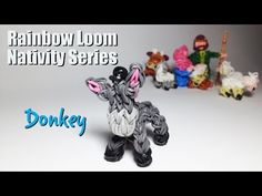 Rainbow Loom Nativity Series: Donkey - YouTube