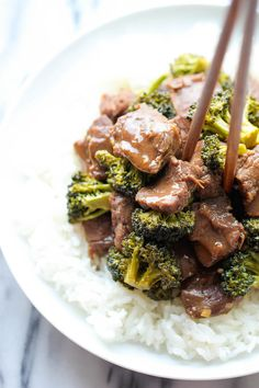 Slow Cooker Beef and Broccoli - A Chinese take-out favorite that can be made right in the slow cooker. It doesn't get easier than that!