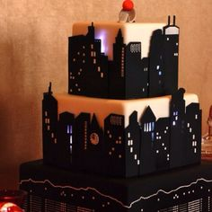 My nephew wants a cake with the skyline this year....