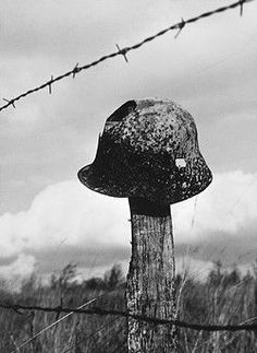 One of the many steel helmets from World War I which farmers still find when they are ploughing their fields. Pin by Paolo Marzioli: