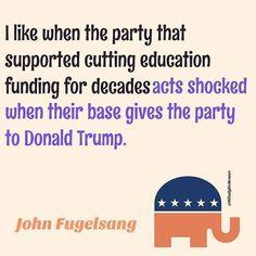 donald trump vows slash funding education