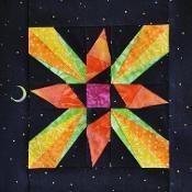Starburst Star Block - via @Craftsy
