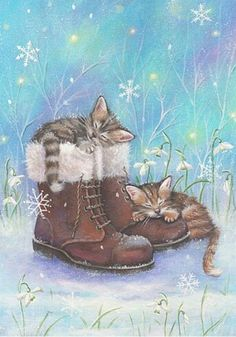 Kitties and boots