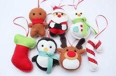 Decorazioni di Natale in feltro