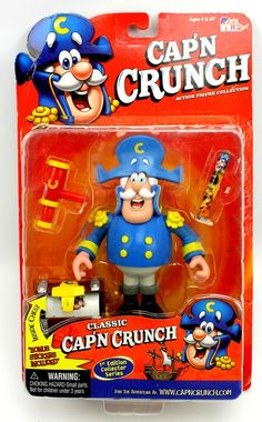 Cap'n Crunch 1st Edition Quaker Oats Cereal Action Figure FunHouse 2001 #FunHouse #weboys10