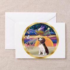 """Christmas Magic"" with a Beagle - Christmas cards."