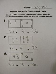 Mrs. T's First Grade Class: Counting on Activities