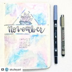 Love this look on this cover page by Another great gem-themed spread from my friend Sarah. The coloring is reminiscent of a subtle gradient you'd find on gems, too. Bullet Journal Contents, Bullet Journal Cover Page, Bullet Journal Tracker, Bullet Journal Hacks, Bullet Journal Printables, Journal Template, Bullet Journal Themes, Bullet Journal Spread, Bullet Journal Layout