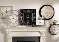 Large Nickel Desk Clock