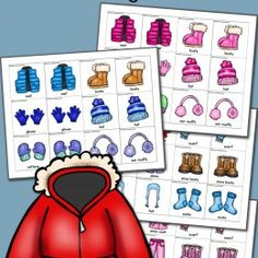 FREE Winter Clothes Matching Game Printables for PreK-4