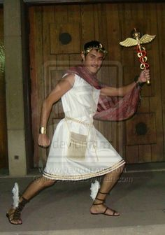 Hermes costume for Greek day