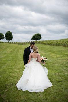 Albemarle Estate at Trump Winery Wedding | Bride and Groom Vineyard Portraits