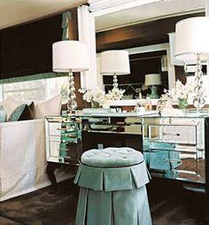 vanity nightstand combo