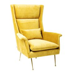 Vegas Forever yellow arm chair by Kare design, via Home Stock