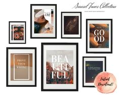 ART PRINT   Sunset Collection   Art Print Sets   Digital Download or Physical Print   Warm Sunset Quote   Wall Art   Home Décor Group Art, Decoration, Digital Art, Gallery Wall, Collections, Warm, Sunset, Art Prints, Unique Jewelry