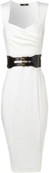 Add a Jacket or cardigan to this Cream Ponti Sleeveless Dress