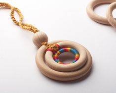 Organic Nursing Necklace/  ECO-Friendly Baby Teething Necklace/ Wooden development toy