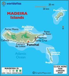 map of Madeira Islands