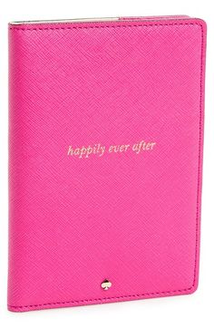 Perfect for the honeymoon! Chic 'happily ever after' passport holder by Kate Spade