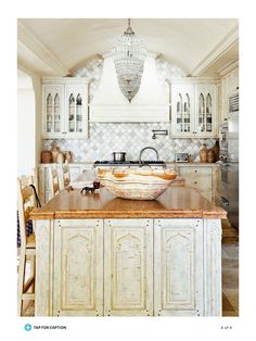 "If I could start a kitchen from scratch I would want the wall you first see when you walk in to look like this. The symmetry and architectural feeling goes far beyond what one recognizes as ""kitchen"". Just gorgeous! From June 2015 issue of House Beautiful. Designer: Ohara Davies-Gaetano"