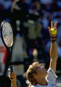 Steffi Graff, Match Point, Tennis Stars, Tennis Players, Wimbledon, Tennis Racket, Queens, Retro, Sports