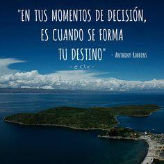 ¿Cuáles van a ser hoy tus decisiones?   #Frases #Decisión #Motivación #Mente
