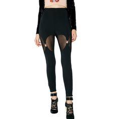 Sheer Black Garter Leggings ($38) ❤ liked on Polyvore featuring pants, leggings, garter leggings, legging pants, sheer trousers, suspender leggings and transparent pants