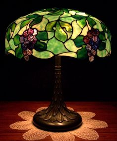 Antique Suess Leaded Glass Lamp for sale at $ 5000