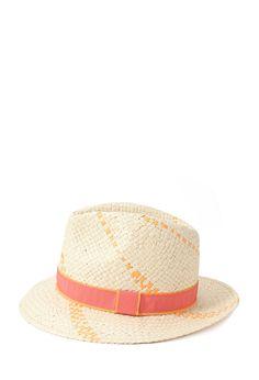 Specked Wide-Brim Straw Fedora | FOREVER21 #Accessories #Hat