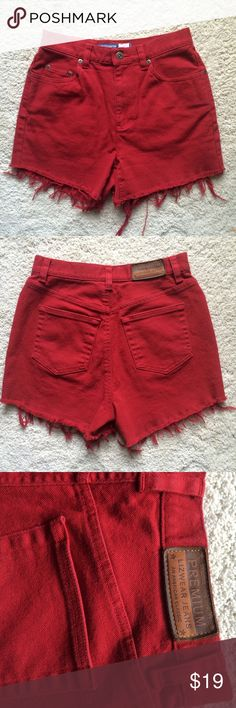 Vintage high waisted shorts Vintage denim high rise shorts cut to ...