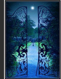 The Secret Garden at night