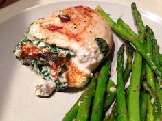 cheese, spinach and mushroom stuffed chicken