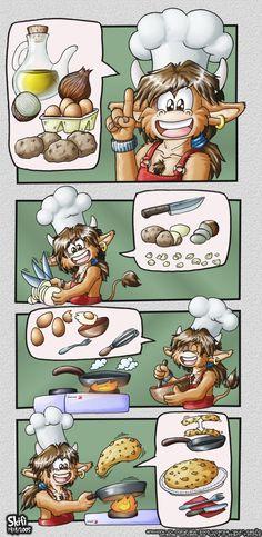 Receta de la tortilla.