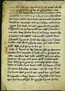 The Homilies d'Organyà (Homilies of Organyà) constitute one of the oldest known literary documents (longer than a mere fragment) in the Catalan language. It is known for the antiquity of its language, between vulgar Latin and Catalan. Older texts in Catalan include a fragment of the Forum iudicum, the feudal oath of 1098, and the Greuges de Guitard Isarn of 1080-1091, also of Orgañá origin,as well as Catalan glosses in Latin documents dated to as far back as 1034.