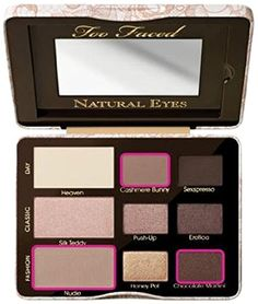 Too Faced Natural Eyes Neutral Eye Shadow Palette - Makeup - Beauty - Macy& Eyeshadow Palette Too Faced, Neutral Eyeshadow Palette, Eye Palette, Makeup Eyeshadow, Matte Eyeshadow, Too Faced Palette, Too Faced Natural Eyes, Too Faced Natural Palette, Make Up Palette