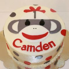 Sock monkey cake..something like this but pink?