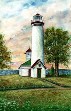 Great Lakes Lighthouse I 10.5 x 16.5 Hand Signed Limited Edition World Famous Award Winning Artist Steven W. Schultz Watercolor Art Print