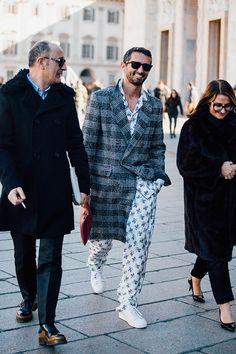 Street looks à la Fashion Week homme automne-hiver 2016-2017 à Milan