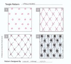Upholstered. Tangle Pattern by Lizzie Mayne.