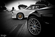 Dad's Csl along side my uncle's E30