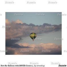 Heißluftballon mit BAYER-Kreuz über Leverkusen Postkarte Desktop Screenshot, Poster, Billboard