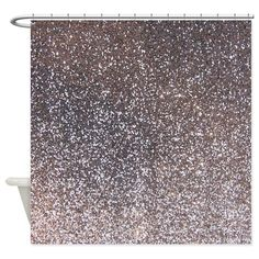 Faux Silver glitter texture shower curtain (matte) by Inspirationz Store - CafePress Glitter Shower Curtain, Glitter Curtains, Gray Shower Curtains, Glitter Bathroom, Bathroom Kids, Glitter Grout, Bathrooms, Green Glitter, White Glitter