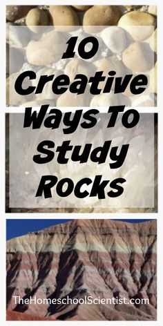 Looking for creative ways to study rocks? Here are a few resources I've found to go along with my son's Trail Guide To Learning rock study.