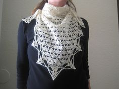 Ravelry: A Classic Triangle Shawl pattern by Cirsium Crochet