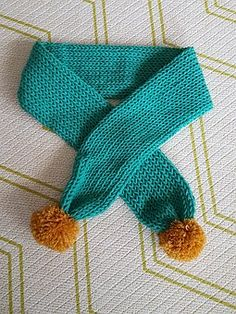 Scarf, Minteusaek, Pom, Knitting