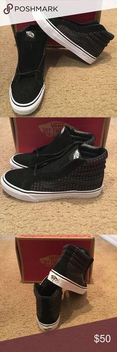 dd3a884b8e7 Wool Dots SK8Hi Slim Vans New in box  black true white Vans Shoes Sneakers