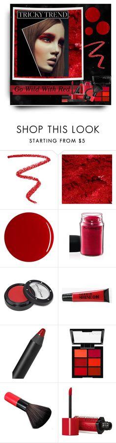 """Go Wild With Red!"" by sherri-2locos ❤ liked on Polyvore featuring beleza, NARS Cosmetics, RGB, MAC Cosmetics, Manic Panic, Torrid e Bourjois"