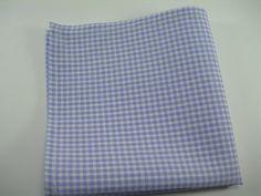 Ginham pocket square Lavendar and white by LeBoutonVert on Etsy, $11.75