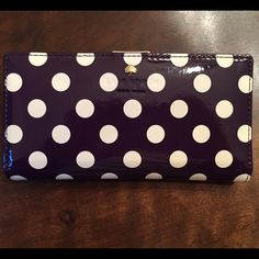 New Kate Spade Snap Purple Polka Dot Wallet This is a brand new Kate Spade wallet! In perfect condition! Let me know if you have any questions :) kate spade Bags Wallets