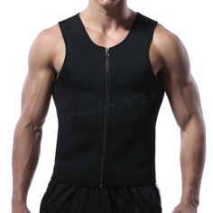 3e259ca8c2 Men Waist Trainer Vest for Weight Loss Sauna Hot Neoprene Body Shaper Tank  Top  fashion